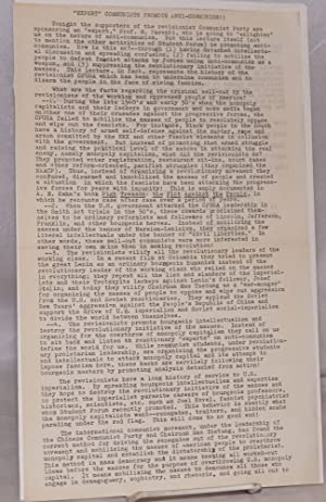 "Expert"" communists promote anti-communism! [handbill]: American Communist Workers Movement (..."