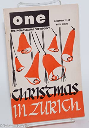 One magazine; the homosexual viewpoint; volume six, number 12, December 1958: Slater, Don, Lyn ...