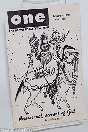 One Magazine: the homosexual viewpoint; vol. 8, #12, December 1960: Slater, Don, Lyn Pedersen, ...