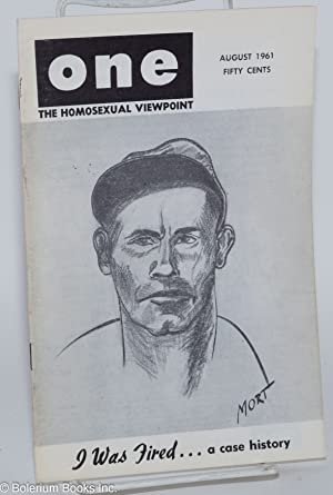 One magazine; the homosexual viewpoint; volume nine, number 8, August 1961: Slater, Don, Robert ...