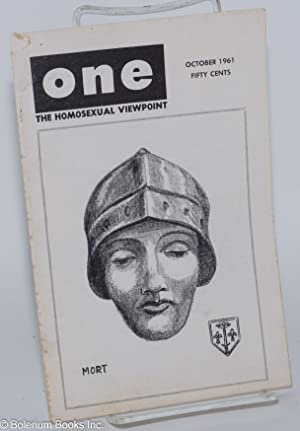One Magazine: the homosexual viewpoint; vol. 9, #10, October 1961: Slater, Don, Robert Gregory, ...