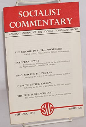 Socialist commentary. February 1946: Socialist Vanguard Group