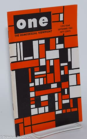 One magazine; the homosexual viewpoint; vol. 13, #9, September 1965: Conger, Richard, Robert ...