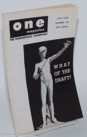 One magazine; the homosexual viewpoint; vol. 14, #3, March 1966, number 150: Conger, Richard, ...