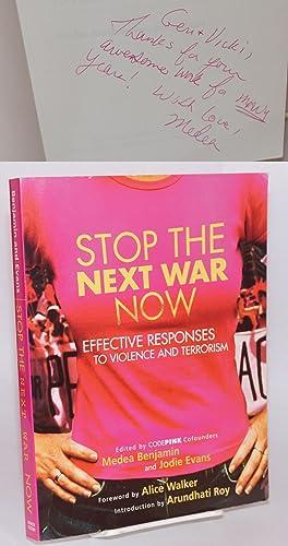 Stop the next war now: effective responses: Benjamin, Medea &