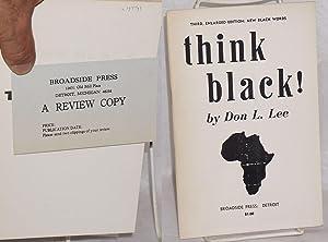 Think black!: Lee, Don L.