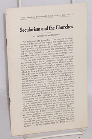 Secularism and the churches: Schroeder, Theodore