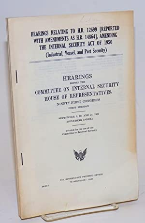 Hearings relating to H.R. 12699 (reported with amendments as H.R. 14864), amending the Internal ...