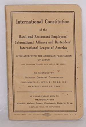 International Constitution . As amended by Thirtieth General Convention, Cincinnati, O., April 21...