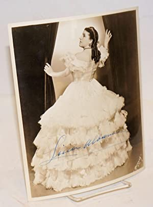 8x10 sepia photograph of Licia Albanese as Violetta in