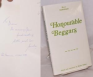 Honourable beggars: a satire: Baronian, Hagop; translated