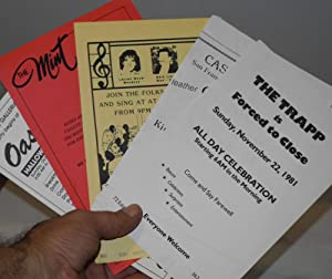 San Francisco gay bar and tavern handbills of the 1980s [six small leaflets]