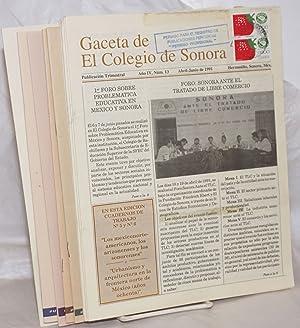 Gaceta de el Colegio de Sonora: publicaci?n trimestral; a?o iv, n?m. 13-17, Abril 1991-Julio 1992 ...