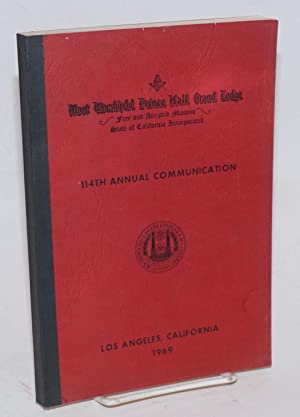 Proceedings of the M. W. Prince Hall Grand Lodge; free and accepted masons of the State of ...