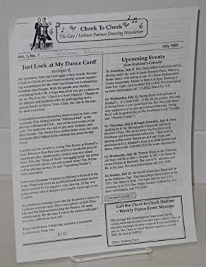 Cheek to Cheek: the gay/lesbian partner dancing newsletter; vol. 1, no. 7, July 1989: Perry, ...