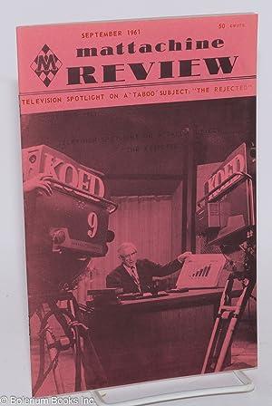Mattachine Review: vol. 7, #9, September 1961: Call, Harold, editor, Rev. J. M. Taylor, Jack ...