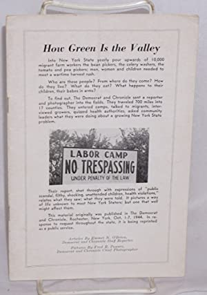 How green is the valley. Articles by Emmet N. O'Brien, pictures by Fred R. Powers: O'Brien, ...