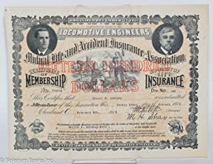 Certificate of Membership and Policy of Life Insurance. Fifteen Hundred Dollars [certificate]