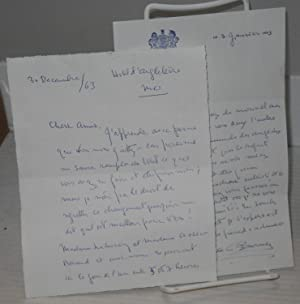 [Two handwritten letters in French signed by Natalie Clifford Barney]