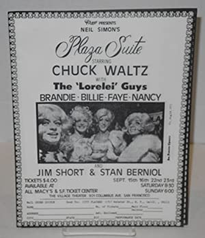 City Players presents Neil Simon's Plaza Suite starring Chuck Waltz with the