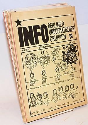 Info Berliner Undogmatischer Gruppen [14 issues]