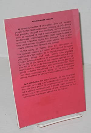 Anarchism in Turkey A Short History of Anarchism in Turkey: Ege, Mine