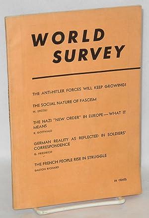 World Survey. A periodical review of international affairs. (November 1941)