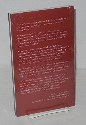 Breve historia de los Negros del Per?: Busto Duthurburu, Jos? Antonio del
