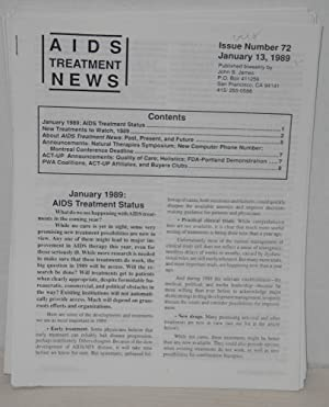 AIDS Treatment News: published biweekly broken run of 41 issues: James, John S. editor and ...