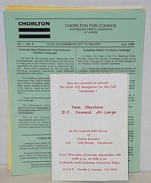 Packet of letters, handbills and newsletters relating: Chorlton, Tom