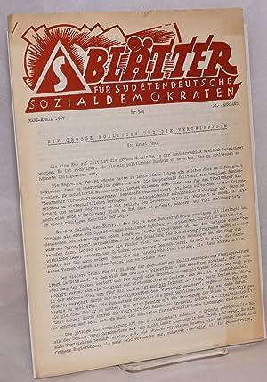 Bl?tter f?r Sudetendeutsche Sozialdemokraten. Nr. 3-4 (M?rz-April 1967), 24 Jahrgang