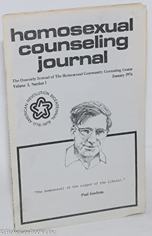 Homosexual counseling journal: the quarterly journal of the Homosexual Community Counseling Center;...