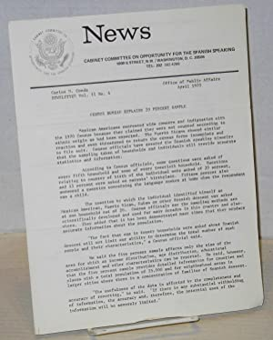 News; a newsletter, vol. 2, #4 April 1970: Cabinet Committee on Opportunities for Spanish Speaking ...