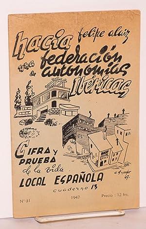 Cifra y prueba de la vida local Espa?ola: Alaiz, Felipe