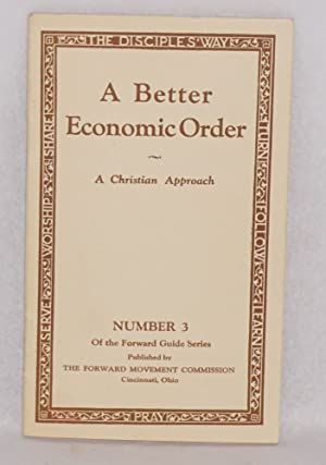 A better economic order. A Christian approach