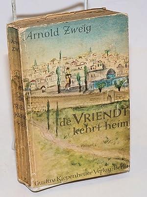 De Vriendt kehrt heim; roman: Zweig, Arnold