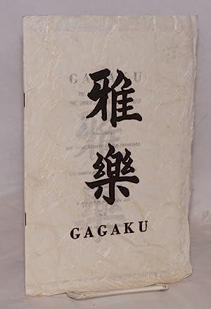 Gagaku: the music and dances of the