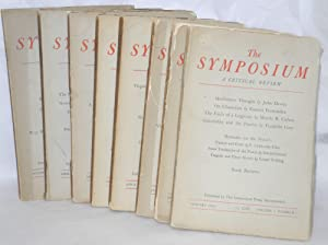 The Symposium; a critical review [eight issues]: Burnham, James and Philip Wheelwright, editors