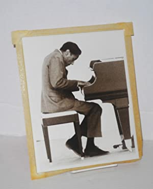 Two 8x10 inch b&w photos: Copi, Tom, Horace Silver and Cannonball Adderley
