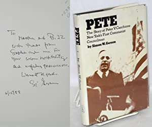 Pete; the story of Peter V. Cacchione, New York's first Communist councilman