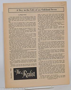 The realist [unnumbered supplement]; December, 1968. A: Krassner, Paul, ed.