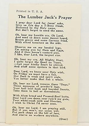 The lumber jack's prayer: T-Bone Slim