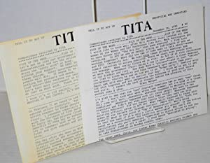 TITA: Tell it to ACT UP: unofficial and unmuzzled; communiques received by TITA; #40 & #49, ...