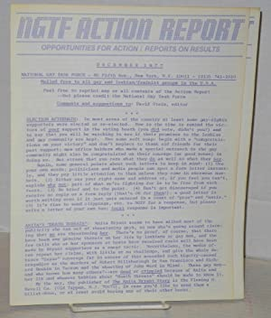 NGTF Action reports and open letter: December 1977 & January 1978 Action Reports & letter ...