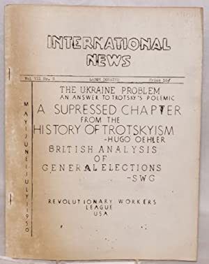 International News. Vol. XII, no. 3 (May-July 1950): Revolutionary Workers League