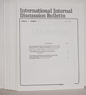 International internal discussion bulletin, vol. 10, no. 1, January, 1973 to no. 26, December, 1973...