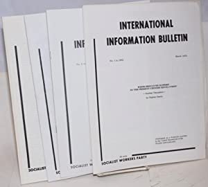 International information bulletin, no. 1, March 1972 to no. 5, November 1972: Fourth International...
