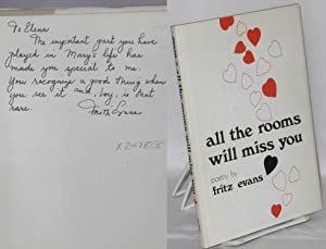 All the rooms will miss you: poems