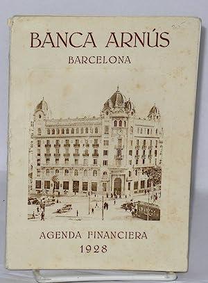 Banca Arnus, Barcelona; Agenda Financiera 1928 [cover]; Alquilad una Caja de Seguridad en la Banca ...