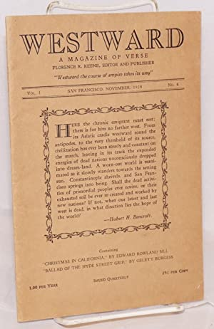 Westward: a magazine of verse [includes Oh: Keene, Florence R.,
